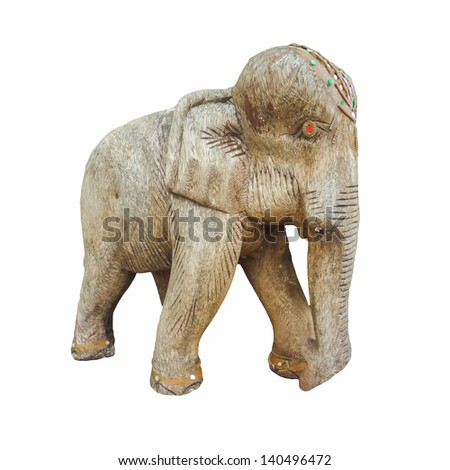 Antique Wooden Elephant toy