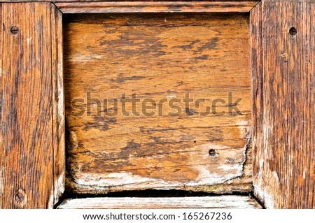 Antique wooden photo frame for background.  - stock photo
