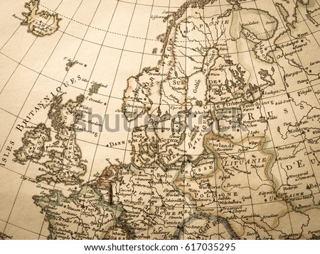 Antique world map northern europe stock photo safe to use antique world map northern europe gumiabroncs Gallery