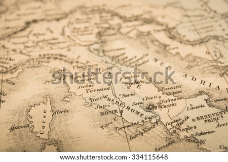 Antique world map rome italy stock photo royalty free 334115648 antique world map rome italy gumiabroncs Image collections