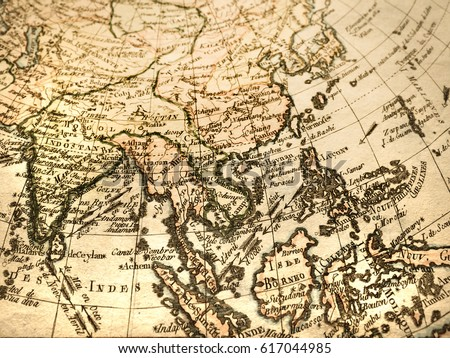 Antique world map southeast asia stock photo 617044985 shutterstock antique world map southeast asia gumiabroncs Image collections