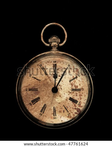 antiqued fob style clock - stock photo