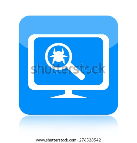 Antivirus icon - stock photo