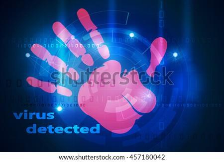 antivirus system - stock photo
