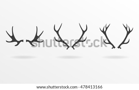 Deer Antlers Icon Set Horns Collection 334489394 in addition I0000zThGqXvOna0 moreover Walkie furthermore Put the animals in the mitten as well 185365664. on deer shadow clip art