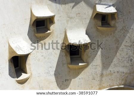 """Antoni Gaudi """"Casa Mila"""" in Barcelona - stock photo"""