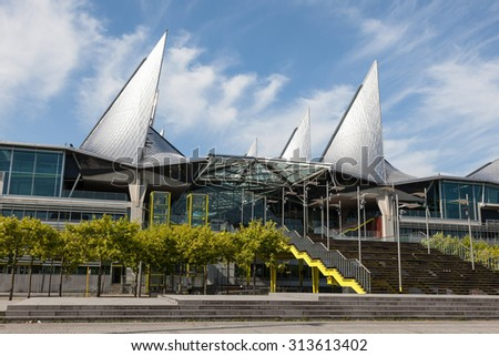 ANTWERP, BELGIUM - AUG 23: The new court of justice building in the city of Antwerp. August 23, 2015 in Antwerp, Belgium