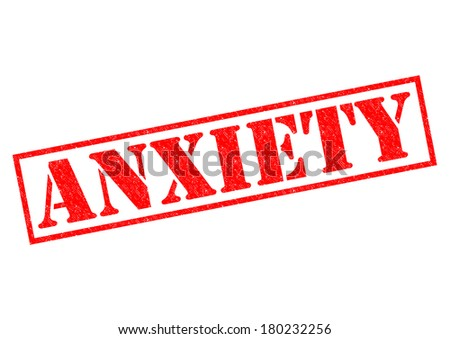 ANXIETY red Rubber Stamp over a white background. - stock photo