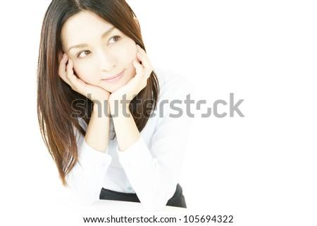 Anxiety women. - stock photo