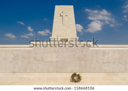 Anzac Memorial at Lone Pine, Gallipoli - stock photo