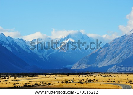 Aoraki-Mount Cook - stock photo