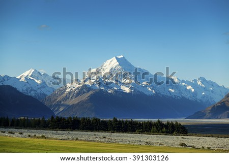 Aoraki Mount Cook on New Zealand's South Island