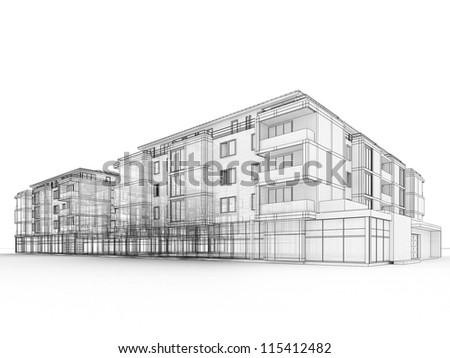 Architecture Buildings Sketch architectural drawing stock images, royalty-free images & vectors