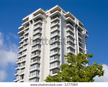 Apartment Building. Downtown Vancouver - stock photo