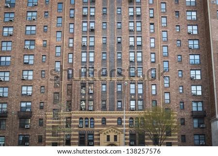 Apartment building in Greenwich Village, Manhattan, New York City - stock photo