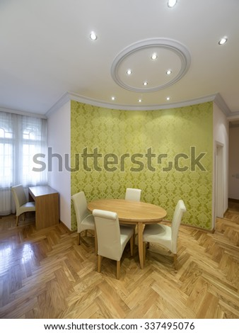 Apartment dinning room  interior - stock photo