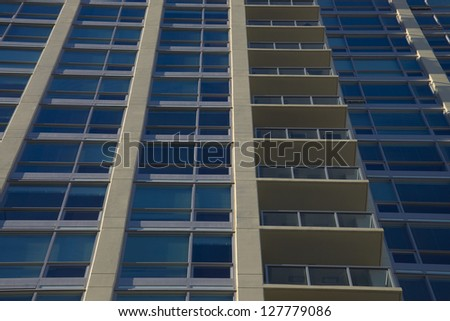 Apartment flats in the city's downtown region - stock photo