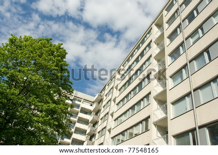Apartment house - stock photo