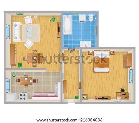 Apartment Plan - stock photo