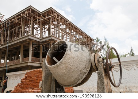 apartment under constructor - stock photo