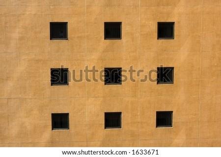 apartment window - stock photo