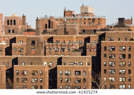 apartments in a big city - stock photo