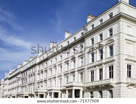 Apartments in Knightsbridge and Chelsea - stock photo