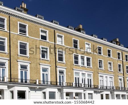 Apartments in Knightsbridge and Chelsea, London, UK - stock photo