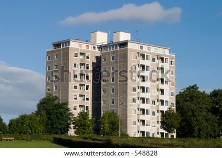 Apartments NW Copenhagen, Denmark - stock photo