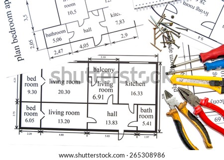 apartments plan with work tool