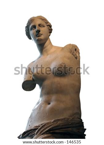 Aphrodite of Melos (Venus de Milo)statue in Louvre, Paris - stock photo