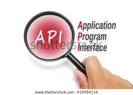 API, acronyms business concept - stock photo