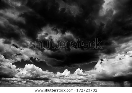 Apocaliptic stormy sky background - stock photo