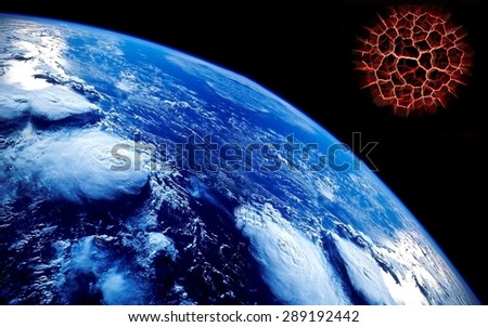 Apocalypse background.Elements of this image furnished by NASA - stock photo