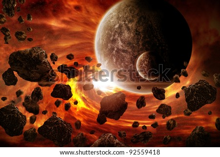 Apocalypse end of time - stock photo