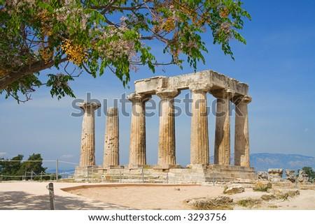 Apollo Temple in Corinth, Greece - stock photo