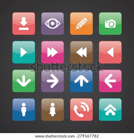 app icons universal set for web and mobile