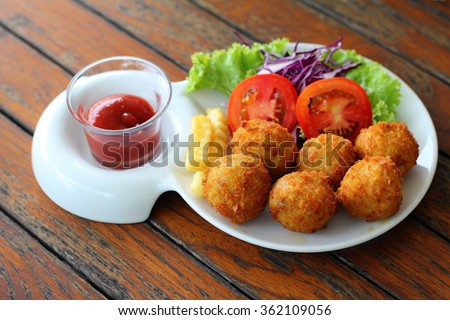 appetizer, asian, background, baked, breaded, brown, chicken, chinese, close, coated, cooked, crispy, crunchy, cuisine, delicious, diet, dinner, dipping, dish, eat, fast, fat, food - stock photo