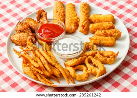 appetizer in the bar - stock photo