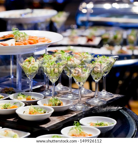 Appetizers and finger food-closeup - stock photo