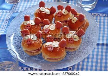 appetizers for kids - stock photo
