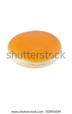 appetizing bun  isolated on the white background - stock photo