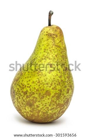 Appetizing ripe pear isolated on white background - stock photo
