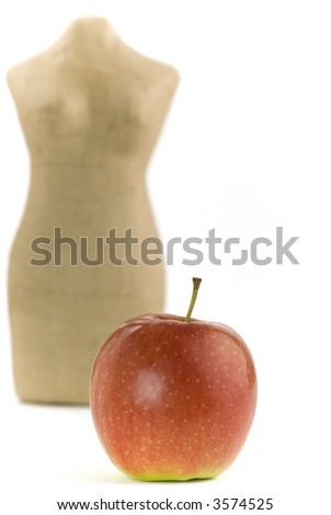 Apple and mannequin