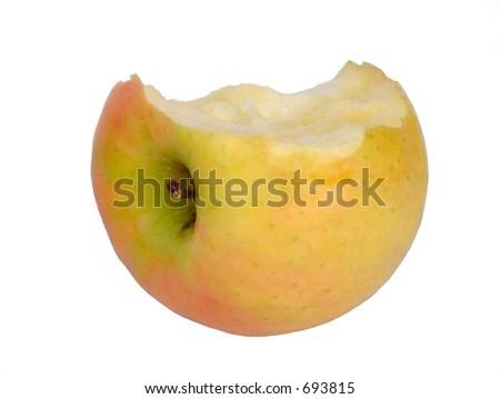 apple bitten - stock photo