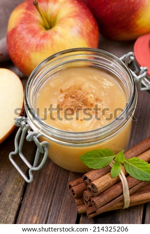 Apple compote - stock photo