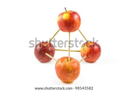 apple construction - stock photo