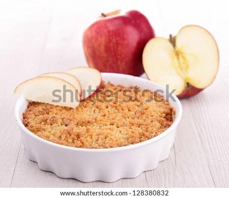 apple crumble - stock photo