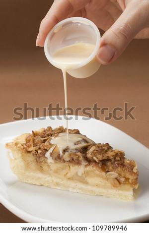 Apple Crumble Cake  - stock photo