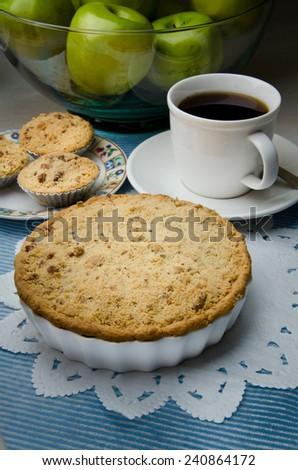 apple crumble pastry - stock photo